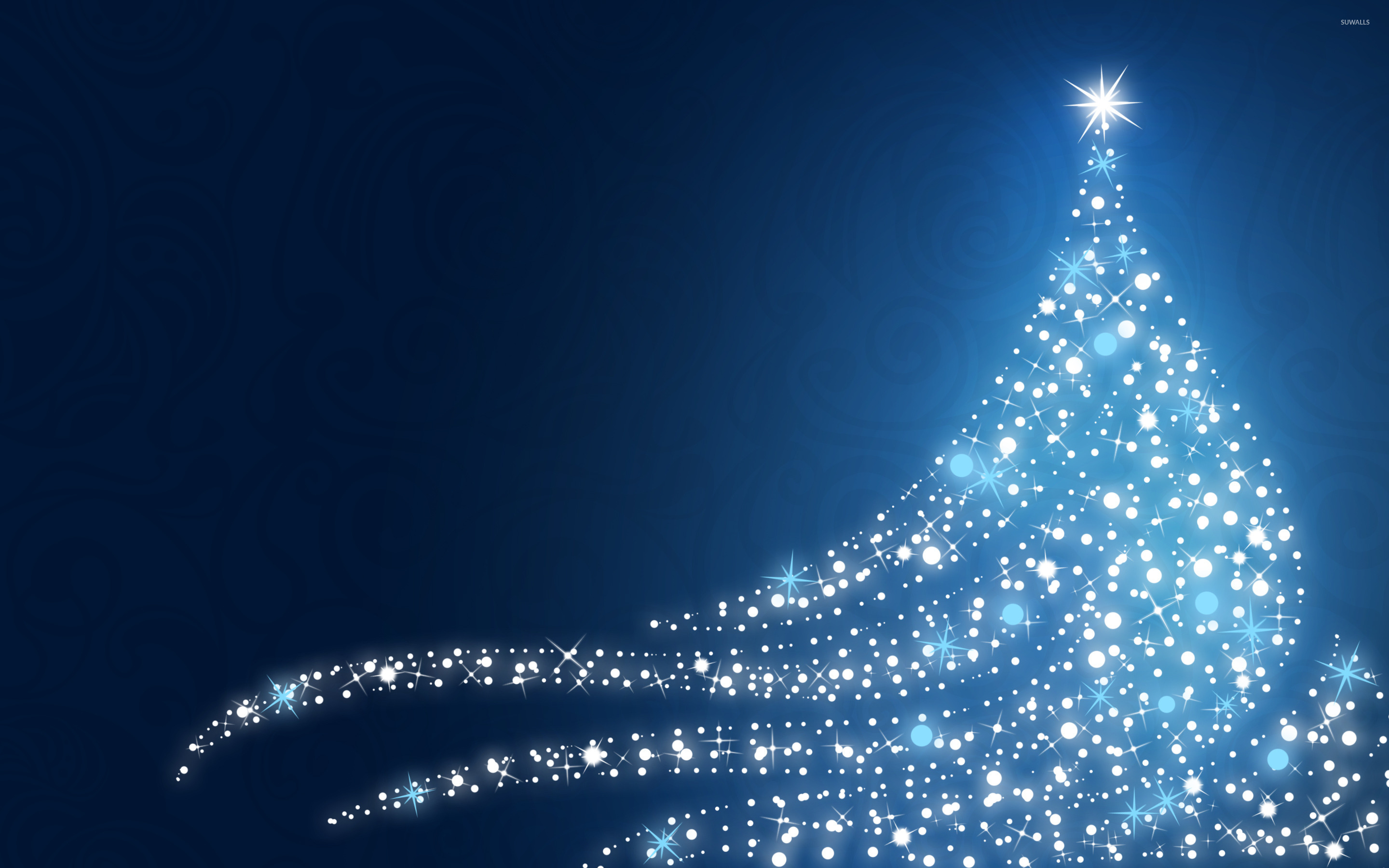sparkling christmas tree wallpaper - holiday wallpapers - #25835