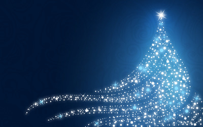 Sparkling Christmas tree wallpaper