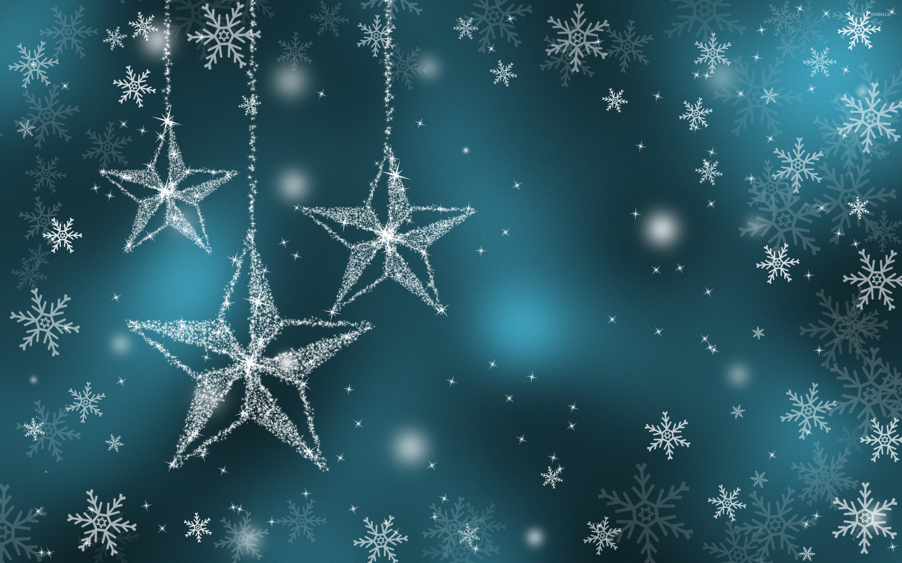 sparkling stars wallpaper - holiday wallpapers - #25820