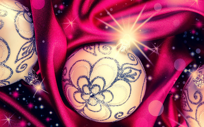 Sparkly baubles wallpaper