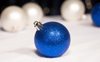 Sparkly blue bauble wallpaper 2880x1800 jpg