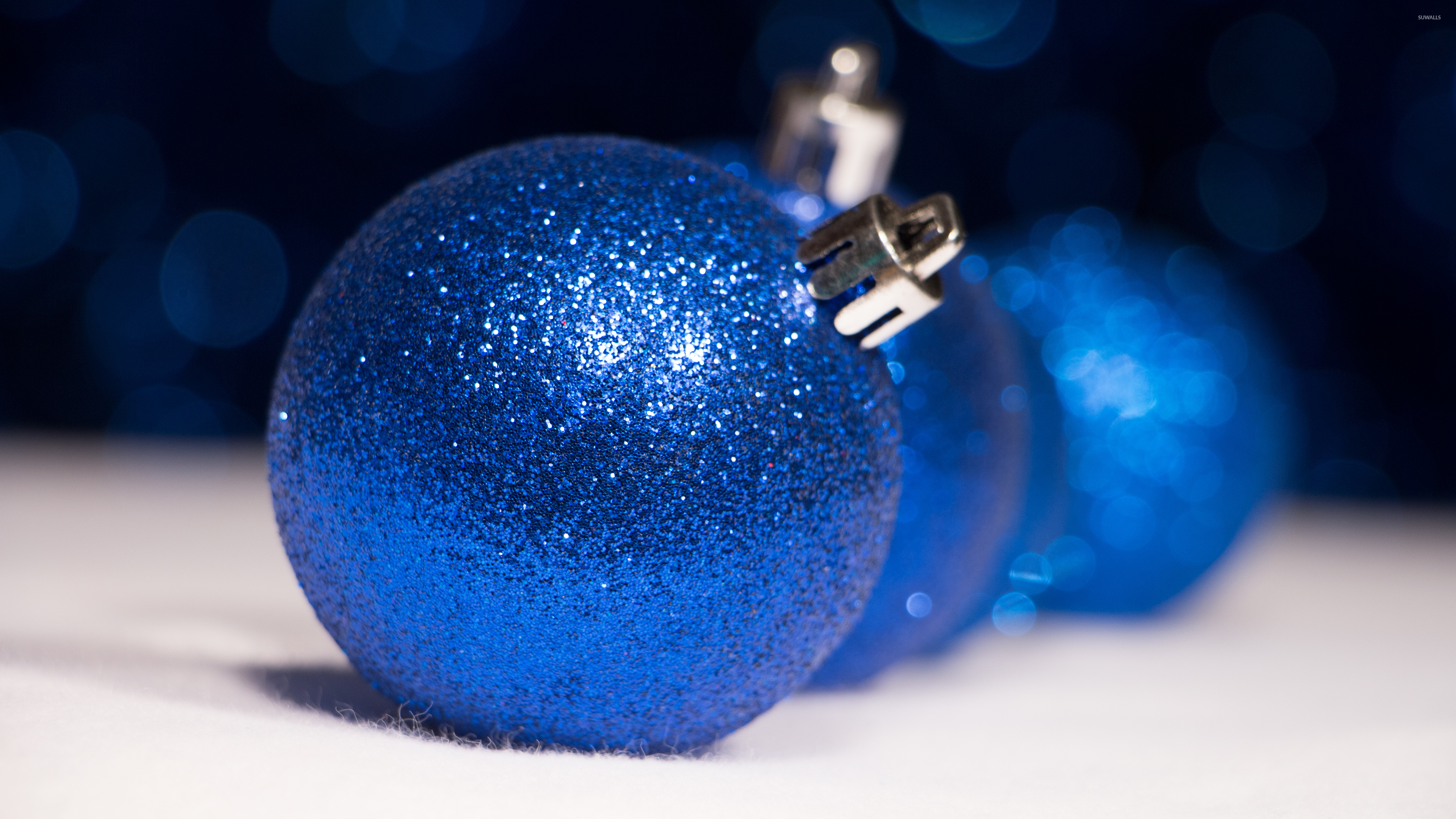 Sparkly Blue Christmas Ornaments Wallpaper Holiday Wallpapers 51539