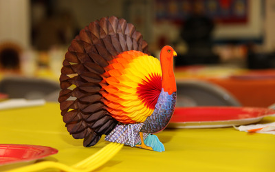 Thanksgiving paper turkey wallpaper