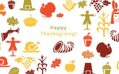 Thanksgiving symbols wallpaper