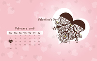 Valentine's Day Calendar wallpaper 3840x2160 jpg