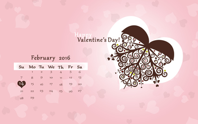 Valentine's Day Calendar wallpaper