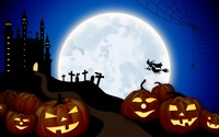 Witch flying over the full moon wallpaper 3840x2160 jpg
