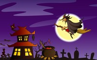 Witch over her hut wallpaper 1920x1200 jpg