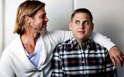 Brad Pitt and Jonah Hill wallpaper