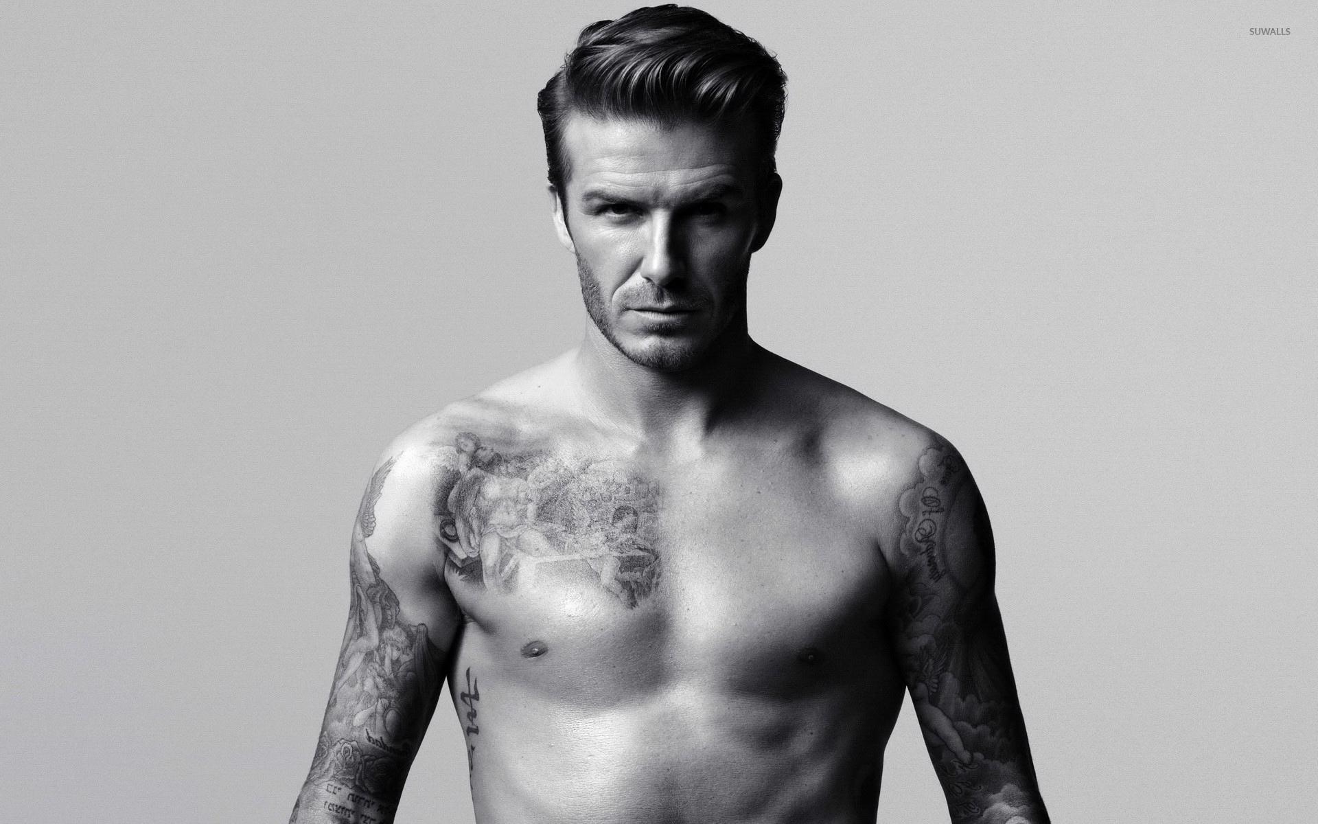 David Beckham Showing His Tattoos Wallpaper Male Celebrity