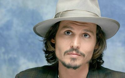 Johnny Depp with a white hat wallpaper