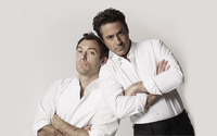 Jude Law and Robert Downey, Jr. wallpaper 2560x1600 jpg