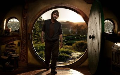 Peter Jackson in a hobbit house wallpaper