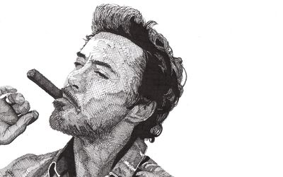 Robert Downey Jr. smoking wallpaper