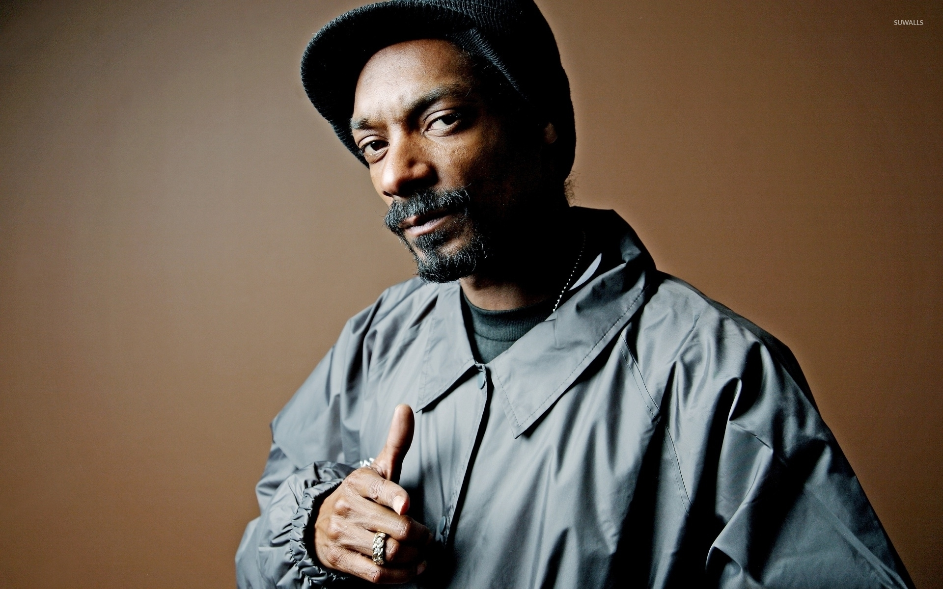 Enjoyable Snoop Dogg In A Gray Jacket Wallpaper Male Celebrity Wallpapers Short Hairstyles Gunalazisus