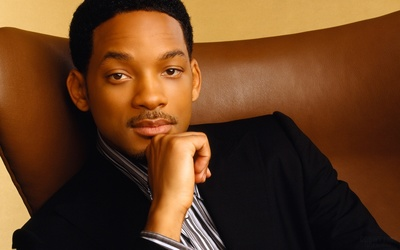 Will Smith on a leather armchair wallpaper