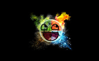 Colorful Awesome Face wallpaper 1920x1200 jpg