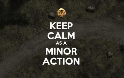 Keep calm as a minor action wallpaper