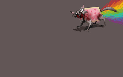Monster Nyan cat wallpaper