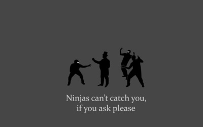 Ninjas can't catch you if you ask please wallpaper