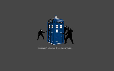 Ninjas can't catch you if you have a Tardis wallpaper