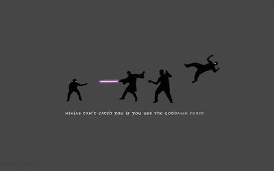 Ninjas can't catch you if you use the goddamn force wallpaper