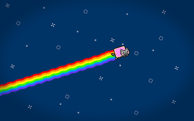Nyan Cat flying wallpaper
