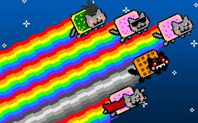 Nyan cats wallpaper