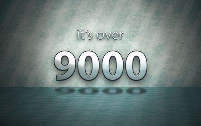 Over 9000 wallpaper
