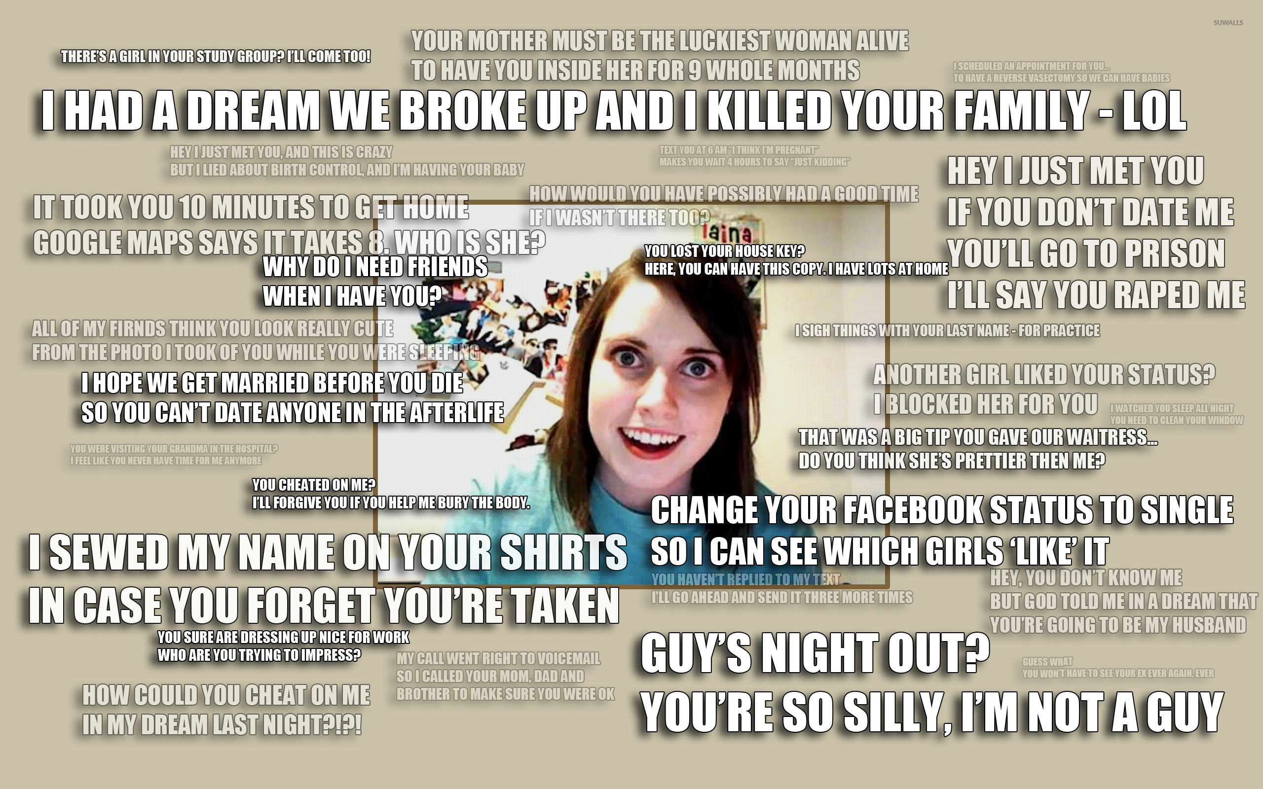 overly attached girlfriend 14944 2560x1600 overly attached girlfriend wallpaper meme wallpapers 14944