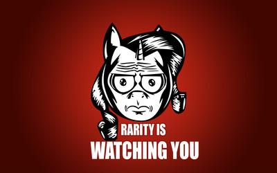 Rarity is watching you wallpaper