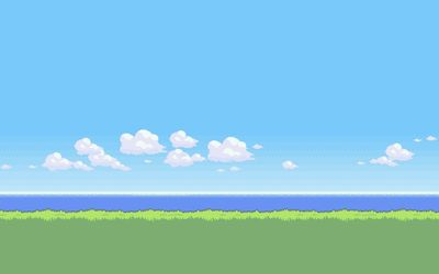 8 bit serene beach wallpaper