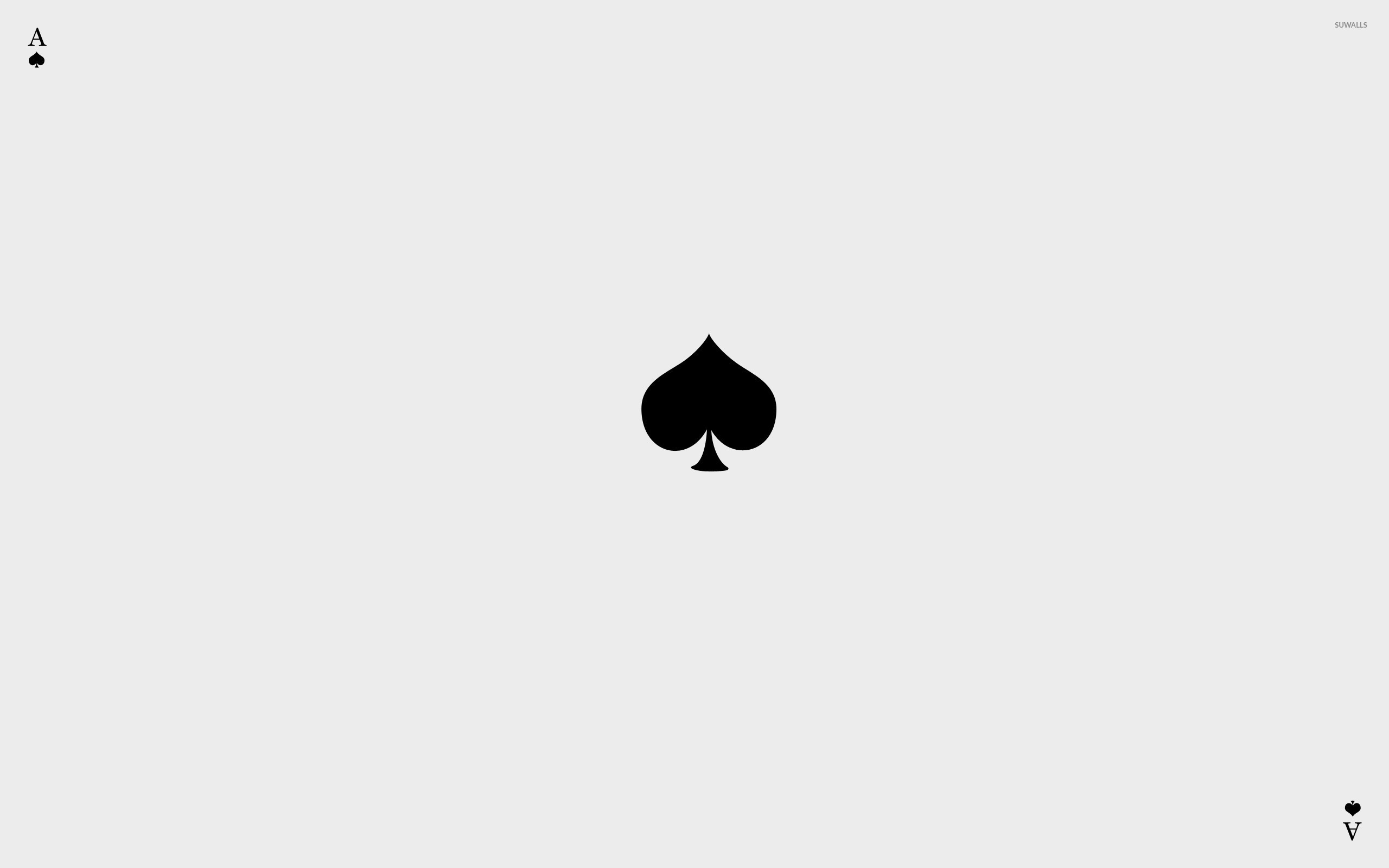 Ace of spades wallpaper minimalistic wallpapers 43116 ace of spades wallpaper voltagebd Images