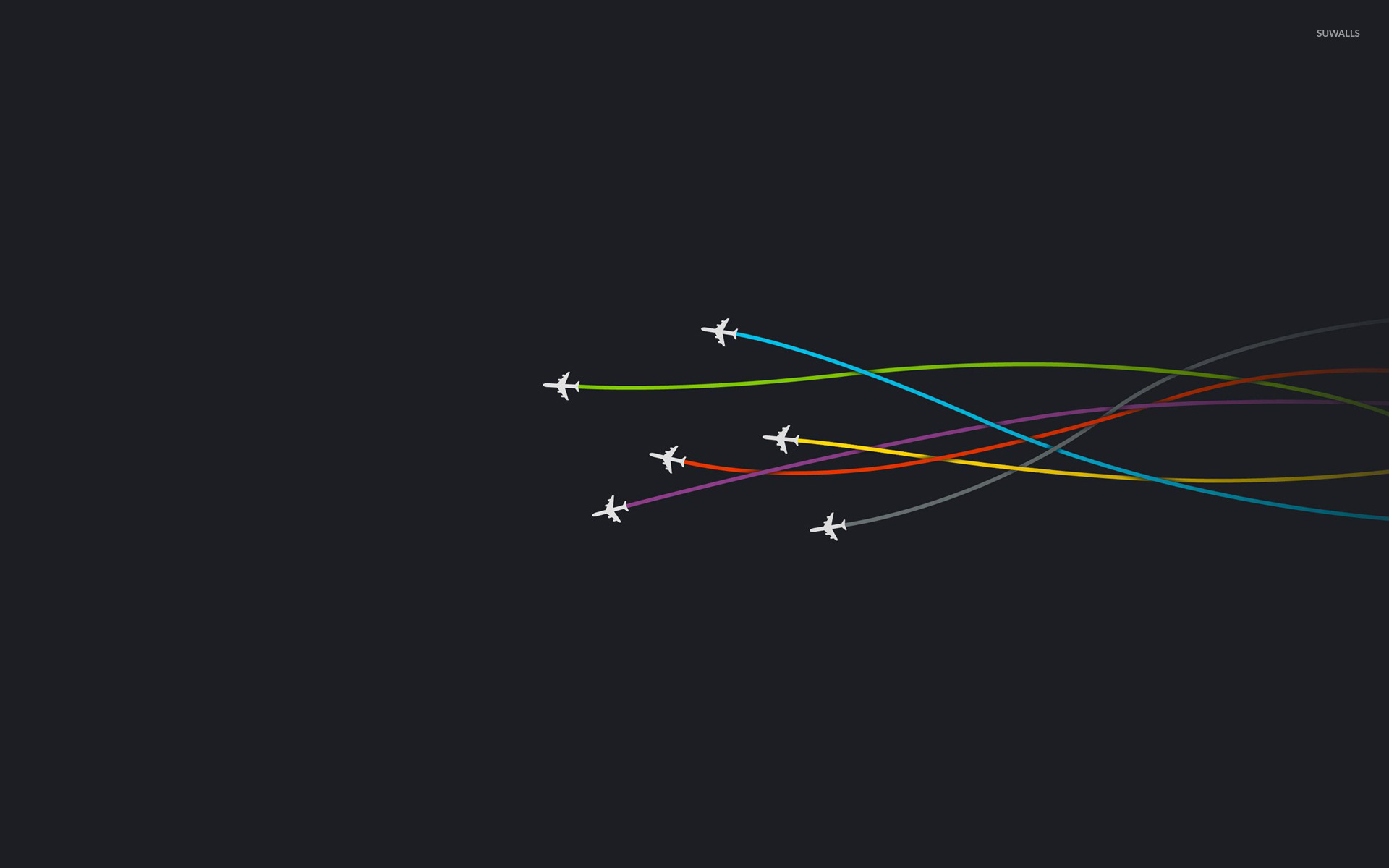 Airplanes wallpaper Minimalistic wallpapers 15381