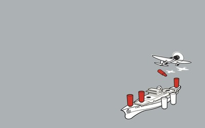 Airplanes and ship wallpaper