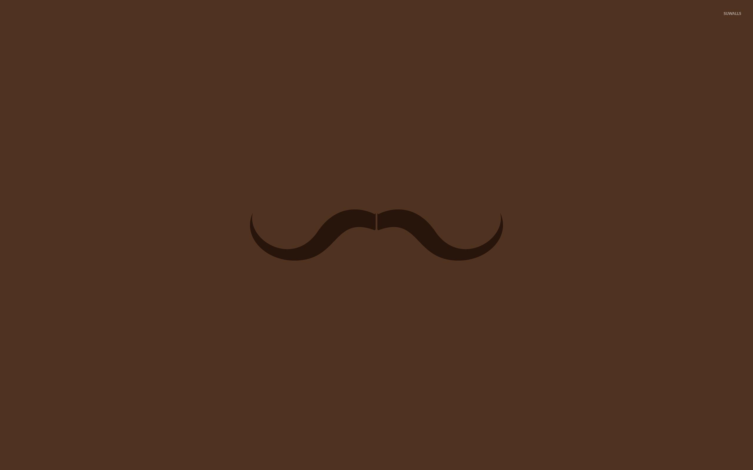 Brown moustache wallpaper