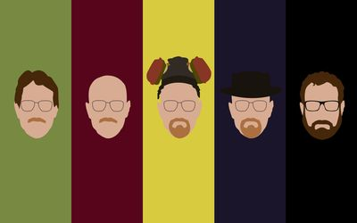 Evolution of Walter White wallpaper