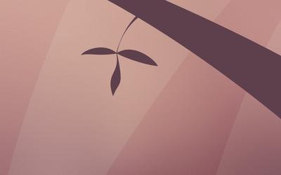 Fresh leaves wallpaper