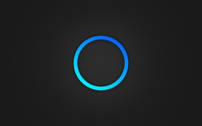Glowing blue ring wallpaper