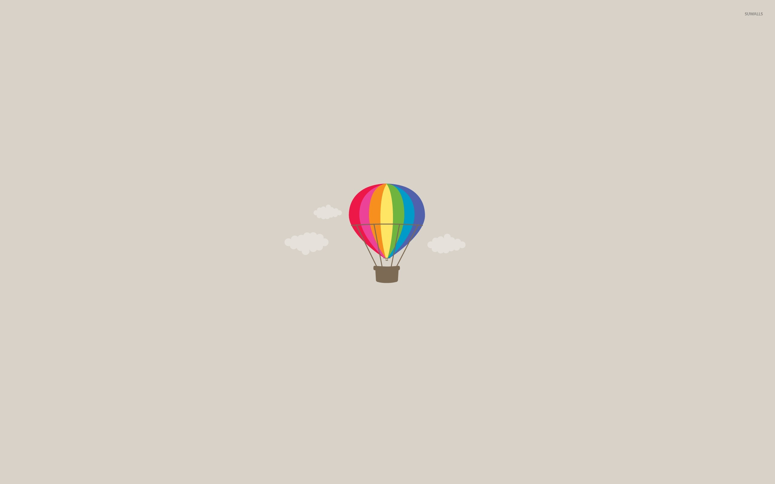 Hot Air Balloon Wallpaper Minimalistic Wallpapers 14383