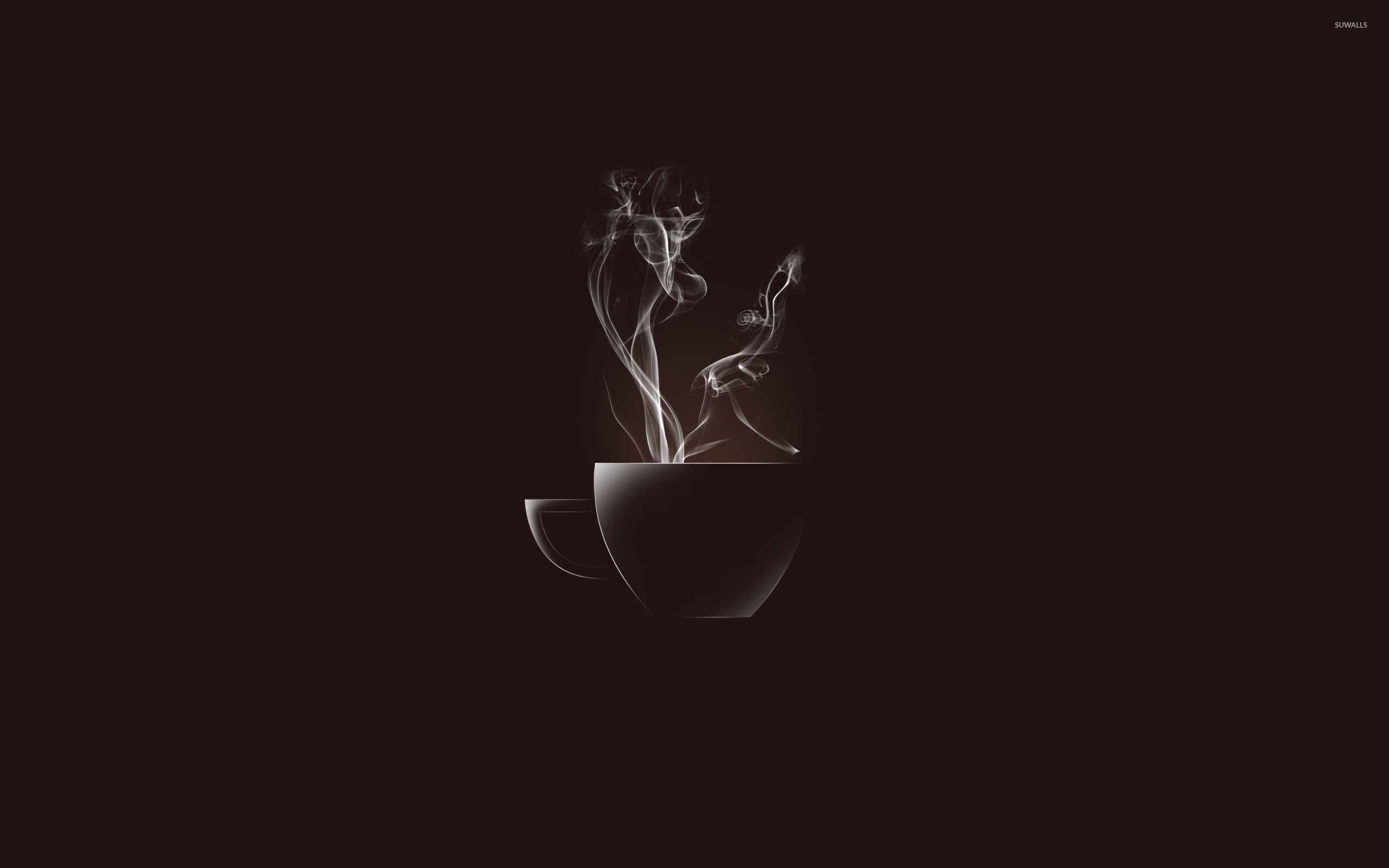 Hot Coffee Cup Wallpaper Minimalistic Wallpapers 53505