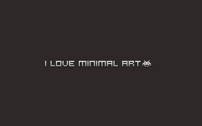 I love minimal art wallpaper