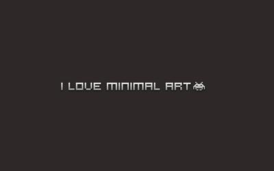 I love minimal art Wallpaper