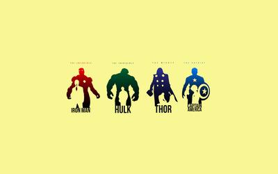 Minimalist Avengers wallpaper