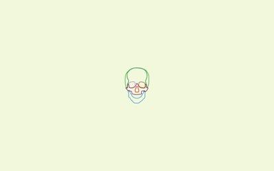 Minimalistic skull wallpaper