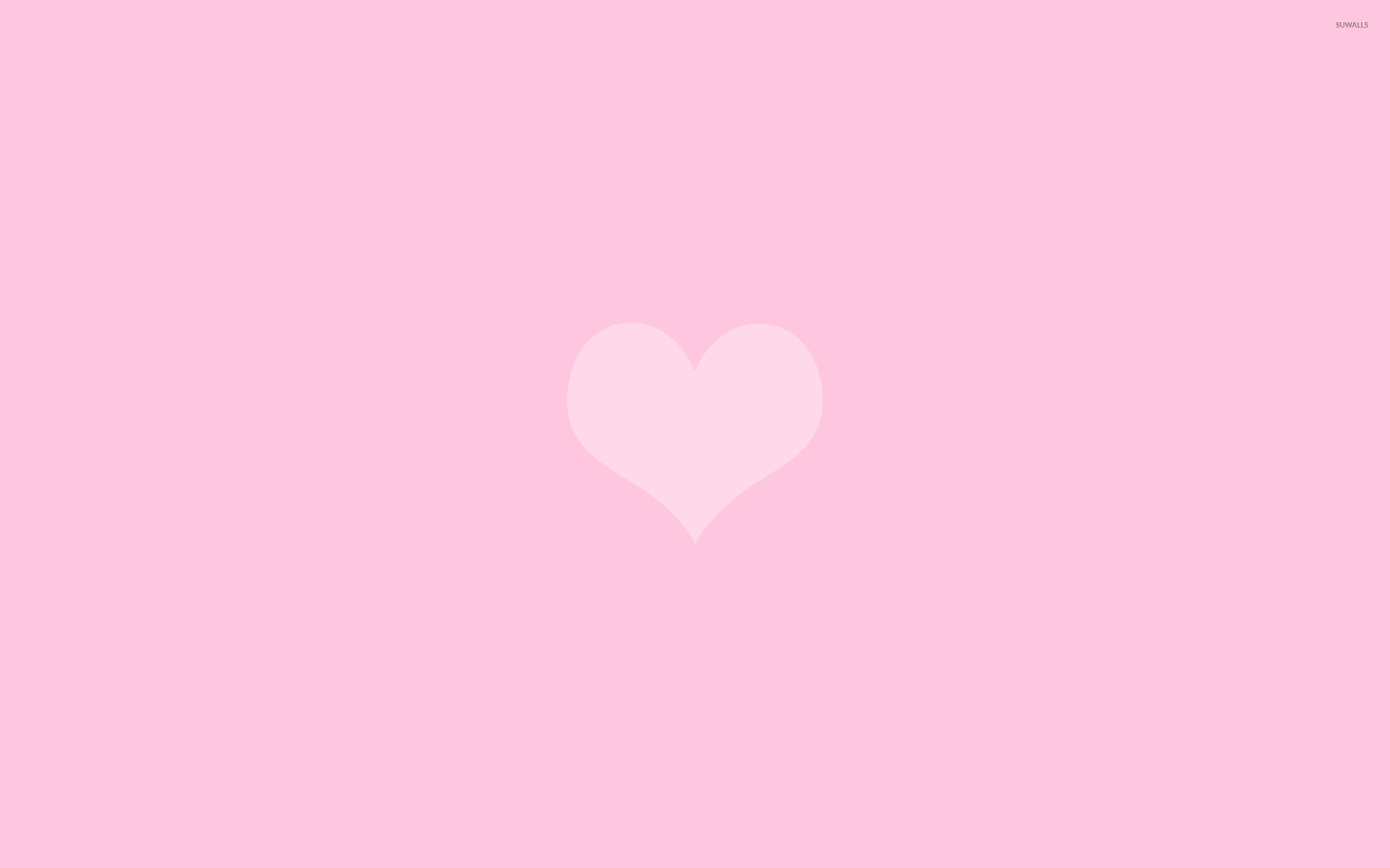 Pink heart 3 wallpaper - Minimalistic wallpapers - #43736