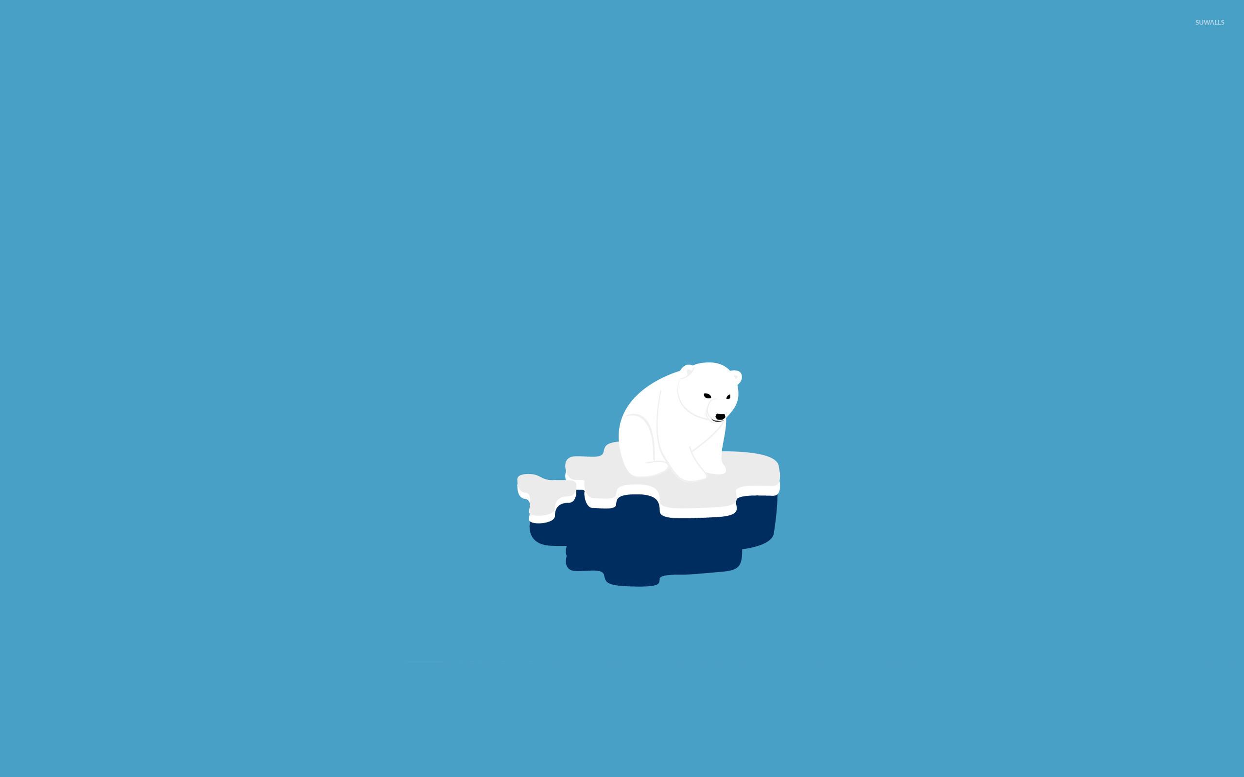 Polar bear wallpaper - Minimalistic