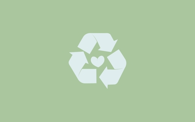 Recycling logo wallpaper