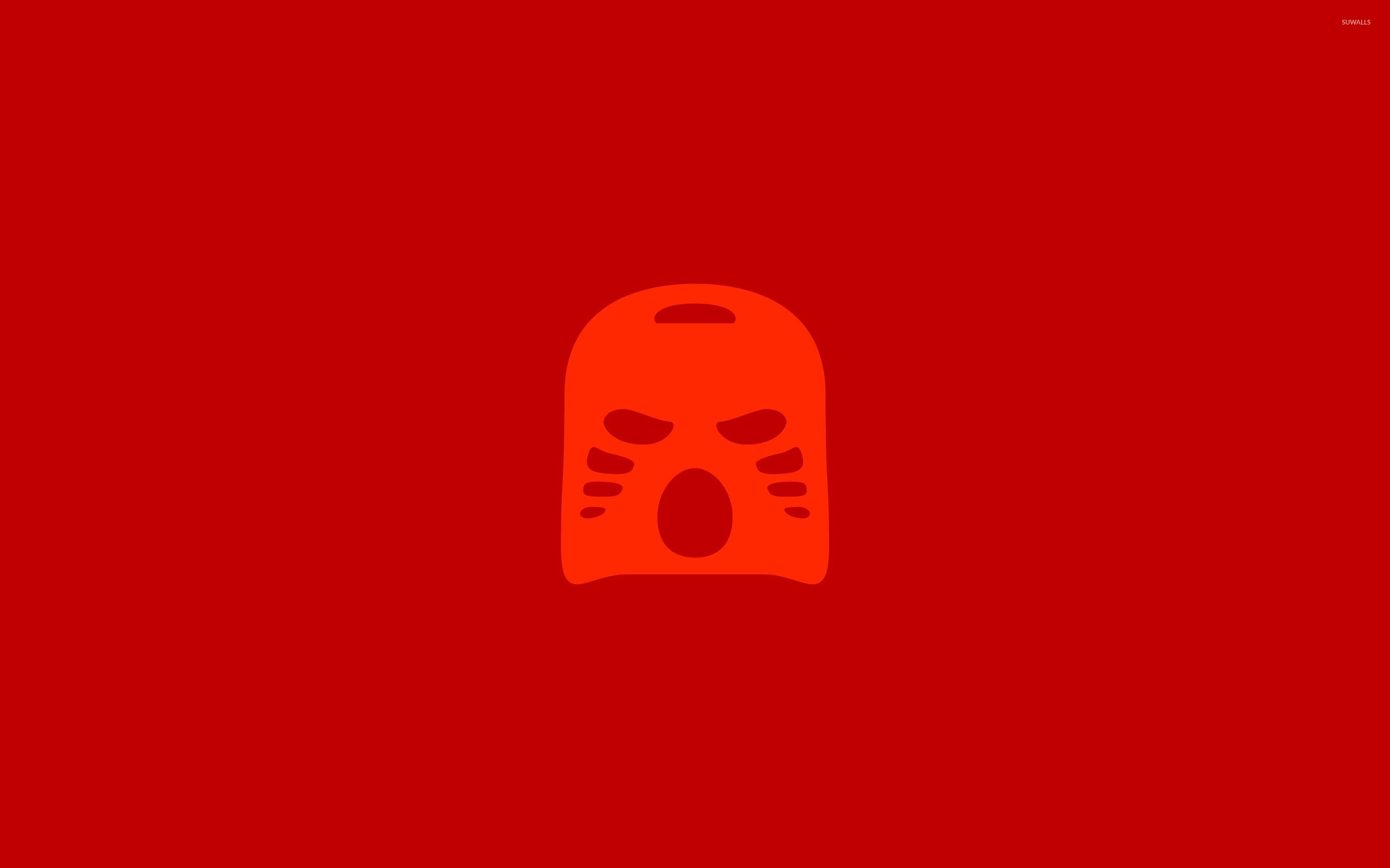 Red Bionicle Lego Mask Wallpaper