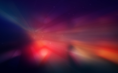 Red sun rays glowing in space wallpaper